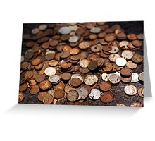 Rusty money Greeting Card