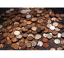 Rusty money Photographic Print