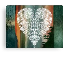 White Heart in Winter Sunset Canvas Print