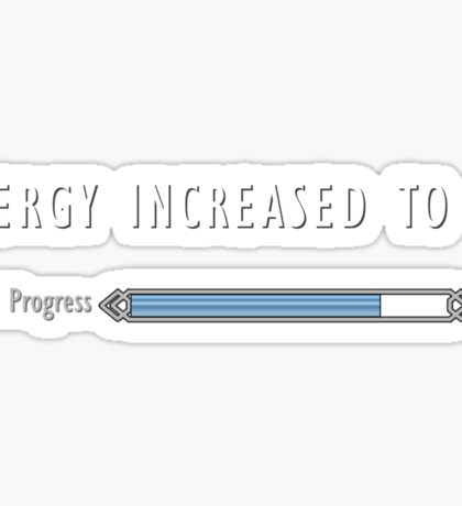 Energy Incresed Sticker