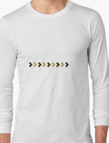 Black and Gold Arrows Long Sleeve T-Shirt