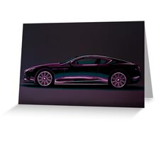 Aston Martin DBS V12 Painting Greeting Card