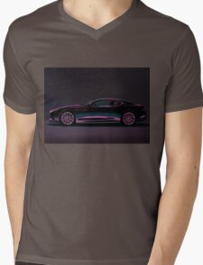 Aston Martin DBS V12 Painting Mens V-Neck T-Shirt