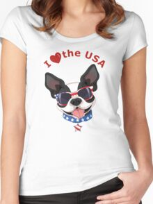 Love the USA Women's Fitted Scoop T-Shirt