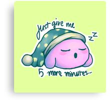 Kirby- 5 More Minutes Canvas Print