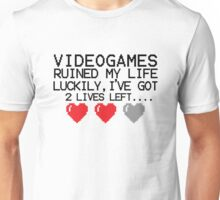 Retro Gaming....  videogames ruined my life Unisex T-Shirt
