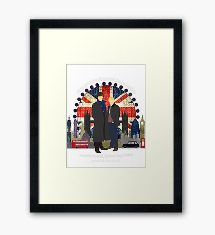 Eliminate the Impossible (White Text) Framed Print