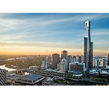 Sunrise over Melbourne Photographic Print