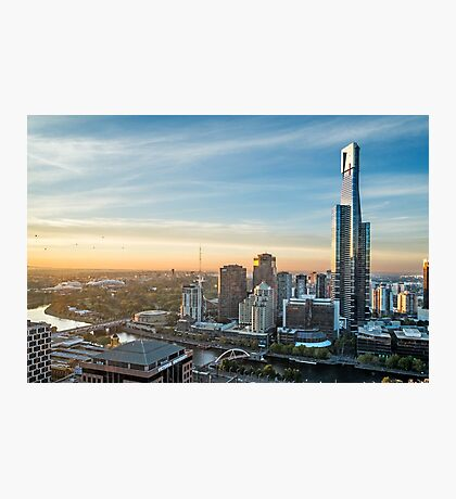 Sunrise over Melbourne Photographic Print