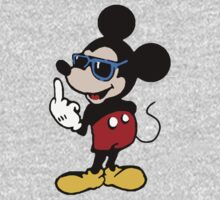 Mickey mouse giving the finger by MalcolmWest