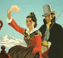 St. Moritz Switzerland Vintage Travel Poster Sticker