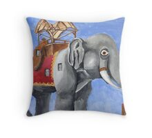 Lucy the Elephant Throw Pillow
