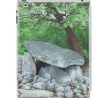 Dyffryn Burial Chamber, Wales - watercolour iPad Case/Skin