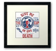 BRASIL WORLD CUP 2014 TEAM USA Framed Print