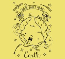 Planet Earth and the Empire Penguins Baby Tee