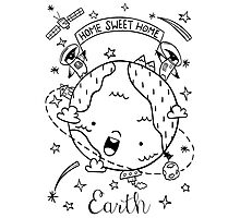 Planet Earth and the Empire Penguins Photographic Print