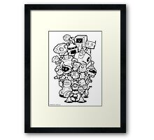 The Robots In My Mainframe Framed Print