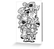 The Robots In My Mainframe Greeting Card