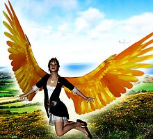 Angel of Clare in Flight by Kristie Theobald