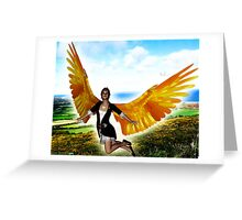 Angel of Clare in Flight Greeting Card