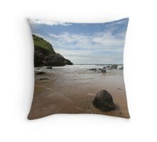 Mewslade Bay - Wales Throw Pillow