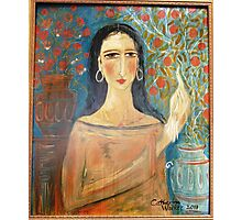 """"""" Lady with clay jars"""" Photographic Print"""