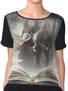 Outlander book with Jamie and Claire Chiffon Top