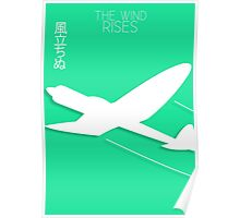 The Wind Rises Minimalist Poster Poster