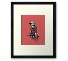 Red Dog Sweater - Original Drawing/ Illustration Framed Print