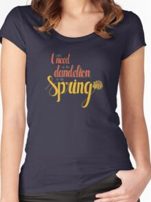 Dandelion in the spring Women's Fitted Scoop T-Shirt