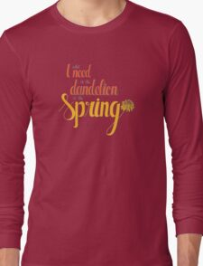 Dandelion in the spring Long Sleeve T-Shirt