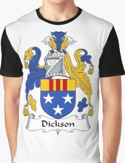 Dickson Coat of Arms / Dickson Family Crest Graphic T-Shirt