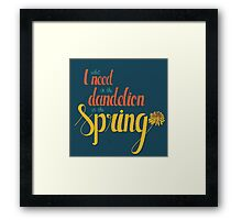 Dandelion in the spring Framed Print