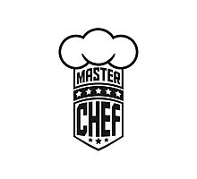 Cool Master Star Chef Design Logo Photographic Print