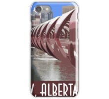 Calgary Vintage Travel Poster iPhone Case/Skin