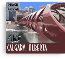 Calgary Vintage Travel Poster Canvas Print