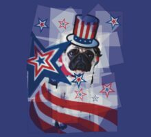 Puggy 4th of July by LadyThor