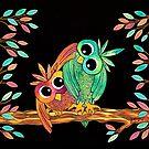 Owlways Friends by Lisa Frances Judd~QuirkyHappyArt