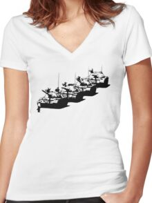 Tank Man Women's Fitted V-Neck T-Shirt