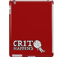D&D: Crit Happens - White Text iPad Case/Skin