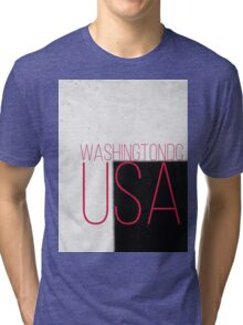 WASHINGTON DC USA Tri-blend T-Shirt