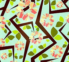 Blooming Trees Pattern III by VessDSign