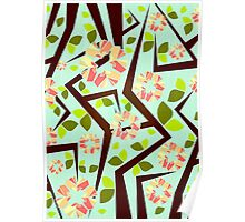 Blooming Trees Pattern III Poster