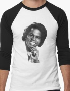 James Brown Portrait Men's Baseball ¾ T-Shirt