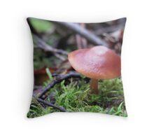 In the wild ~ Mushroom Throw Pillow