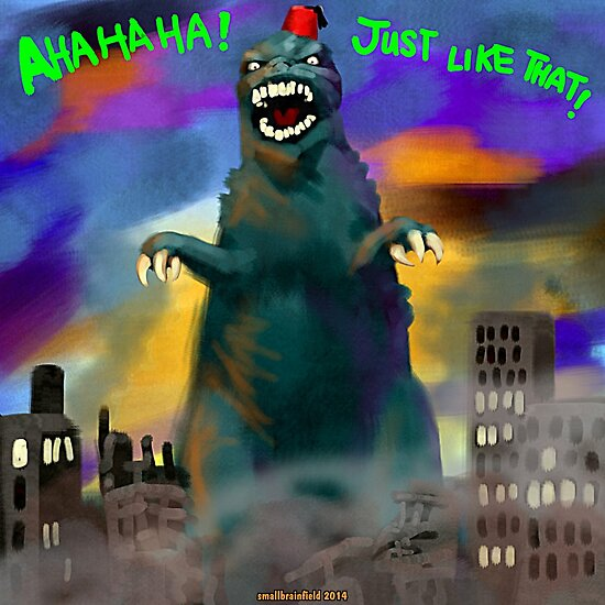 Tommy Cooper-zilla by Smallbrainfield