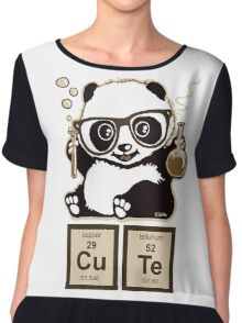 Chemistry panda discovered cute Chiffon Top
