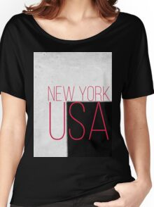 NEW YORK USA Women's Relaxed Fit T-Shirt