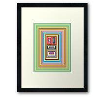 Colours Pixel Framed Print