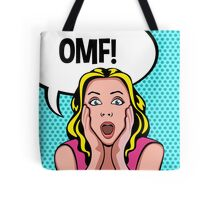 OMF! Funny Retro Pop Art Spoof Tote Bag